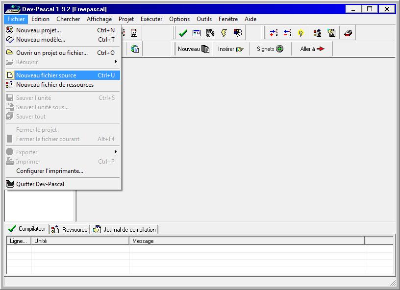 Installation de Dev-Pascal en français sous Windows 7